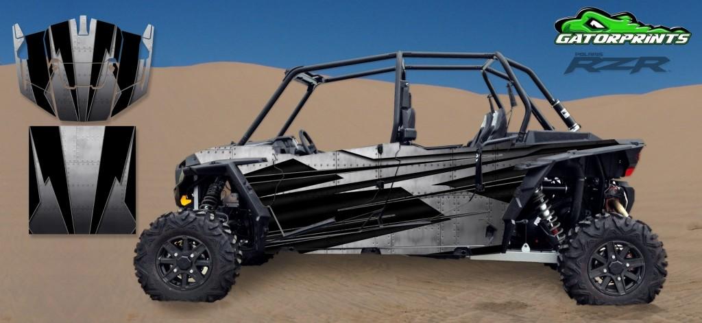 Grey 2014 RZR XP2 1000 Custom Decal Kits – 4 Seater