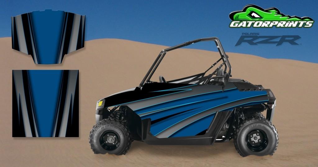Green 2014 RZR XP2 1000 Custom Decal Kits – Mini 170
