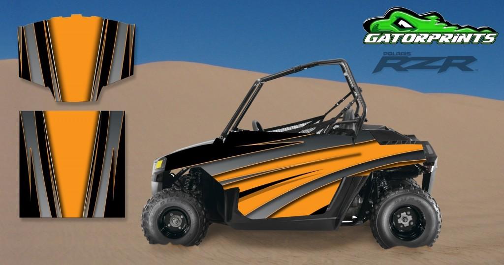 Orange 2014 RZR XP2 1000 Custom Decal Kits – Mini 170
