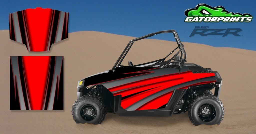 Red 2014 RZR XP2 1000 Custom Decal Kits – Mini 170