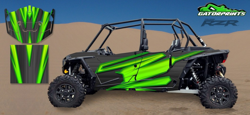 Green 2014 RZR XP2 1000 Custom Decal Kits – 4 Seater