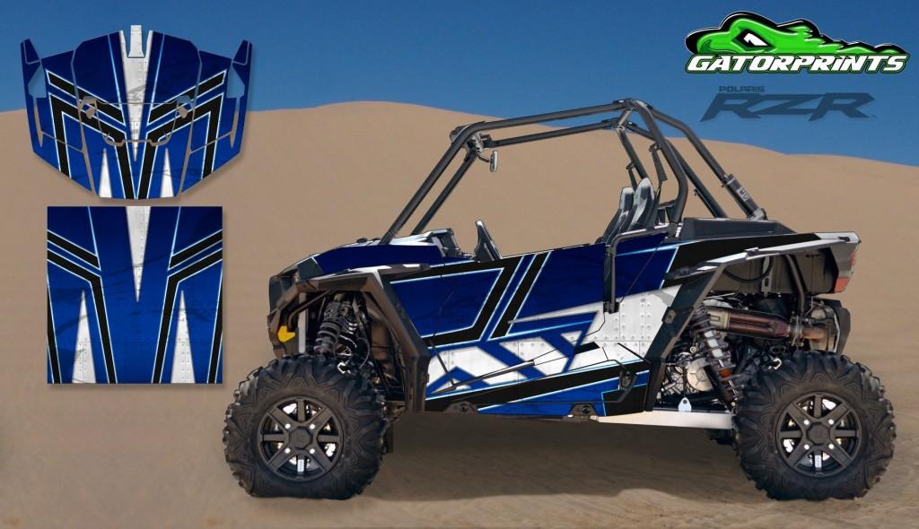 Blue 2014 RZR XP2 1000 Custom Decal Kits – 2 Seater