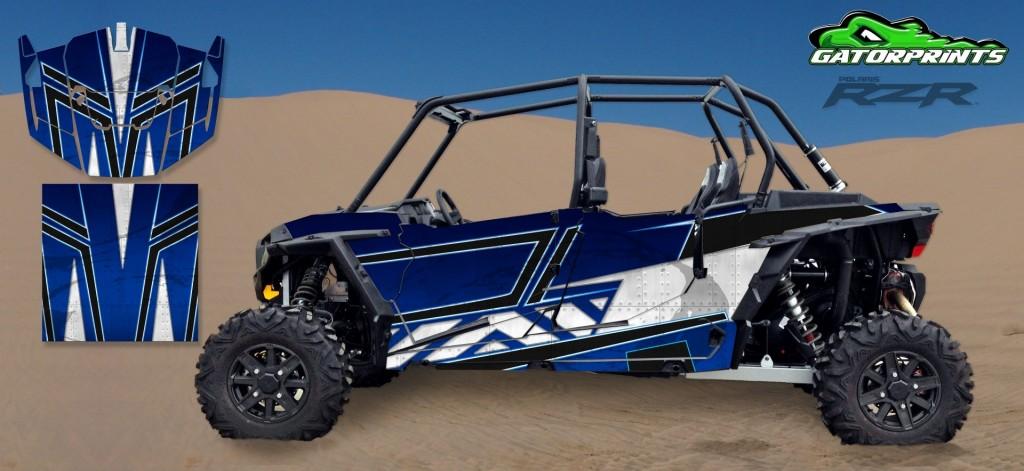 Blue 2014 RZR XP2 1000 Custom Decal Kits – 4 Seater
