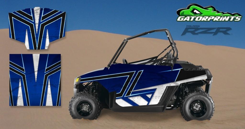 Blue 2014 RZR XP2 1000 Custom Decal Kits – Mini 170