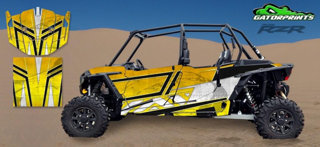 Yellow 2014 RZR XP2 1000 Custom Decal Kits – 4 Seater