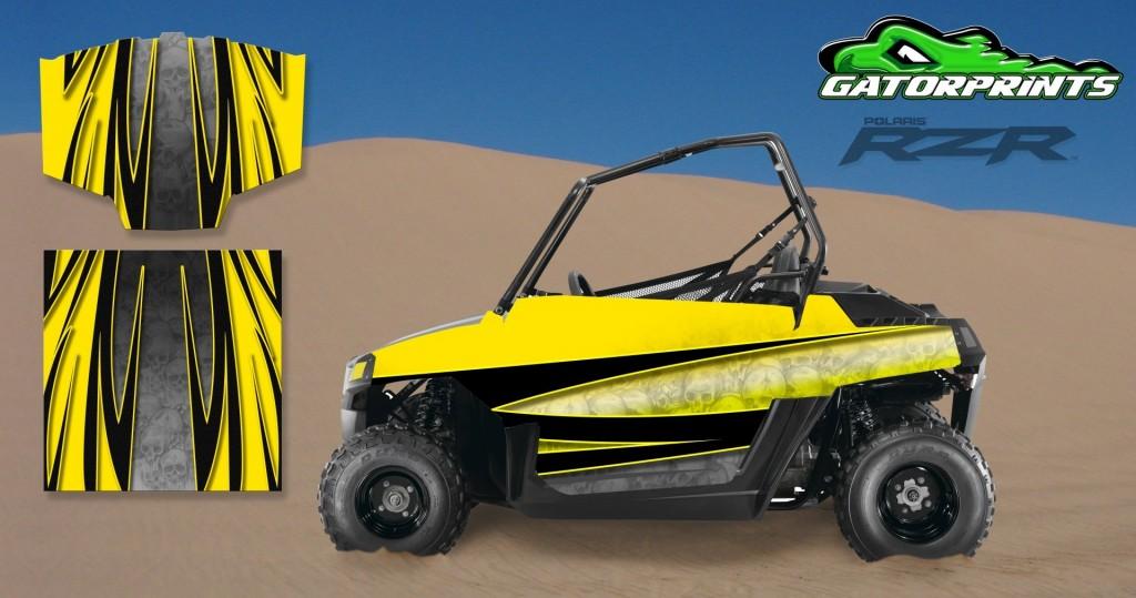 Yellow 2014 RZR XP2 1000 Custom Decal Kits – Mini 170