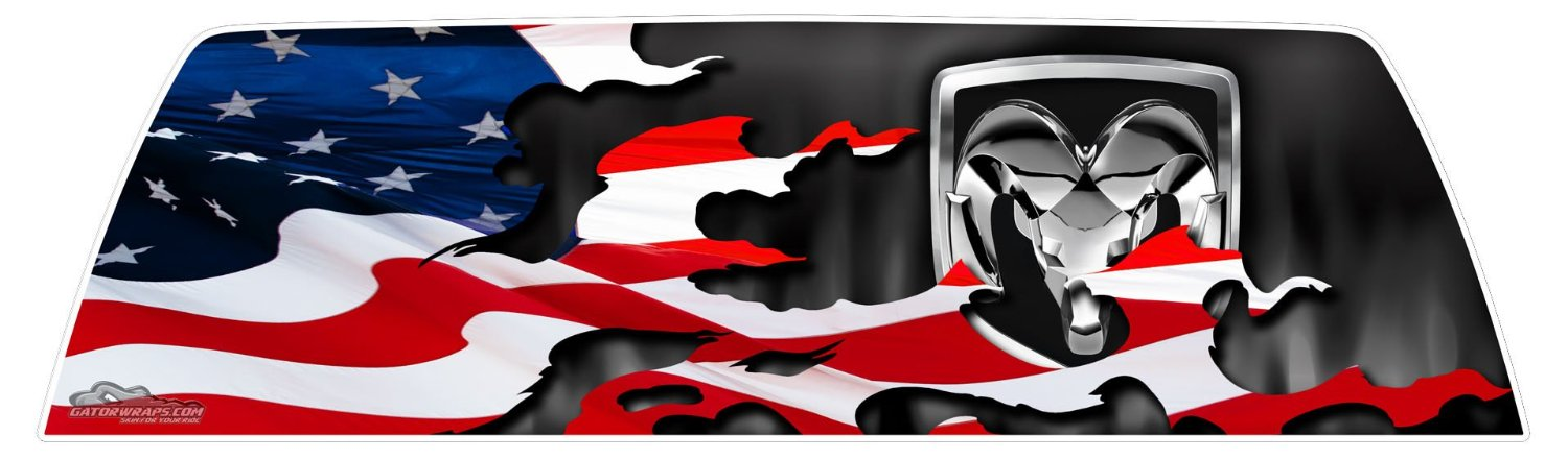 window graphics dodge patriotic flag