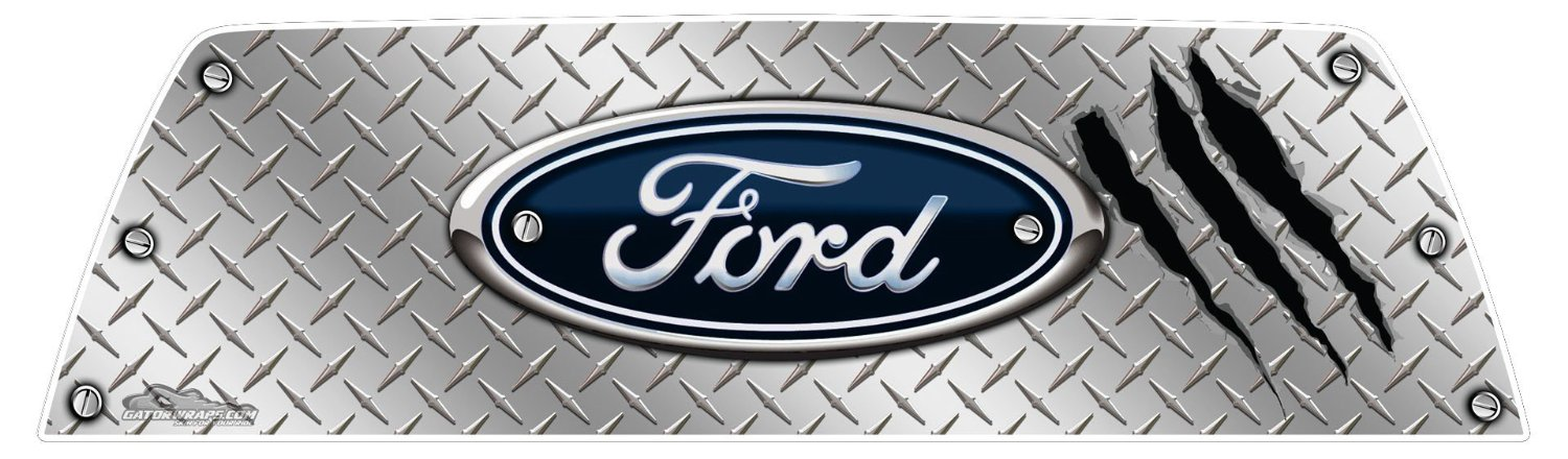 window graphics ford diamond plate