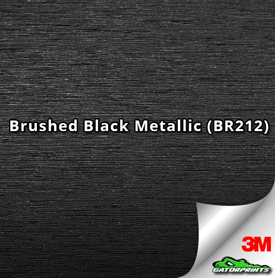 Brushed Black Metallic (BR212)