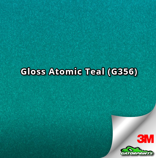 60 Quot 3m 1080 Gloss Atomic Teal G356 Vinyl Wrap Gatorprints