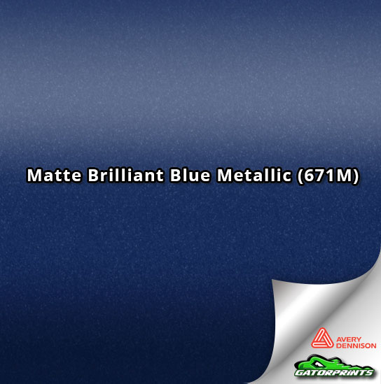 Matte Brilliant Blue Metallic (671M)