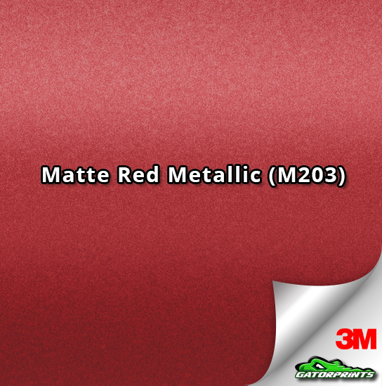 3M 1080 Matte Red Metallic (M203)