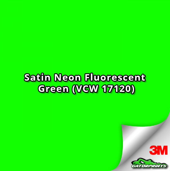60 Quot 3m 1080 Satin Neon Fluorescent Green Vcw 17120 Vinyl