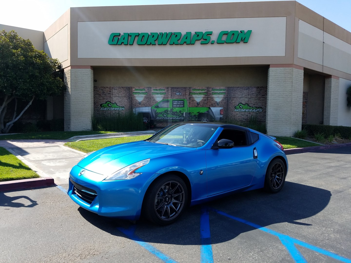 Nissan 370z Wrapped In 3M Gloss Blue Metallic3M 1080 Gloss Blue Metallic (G227)