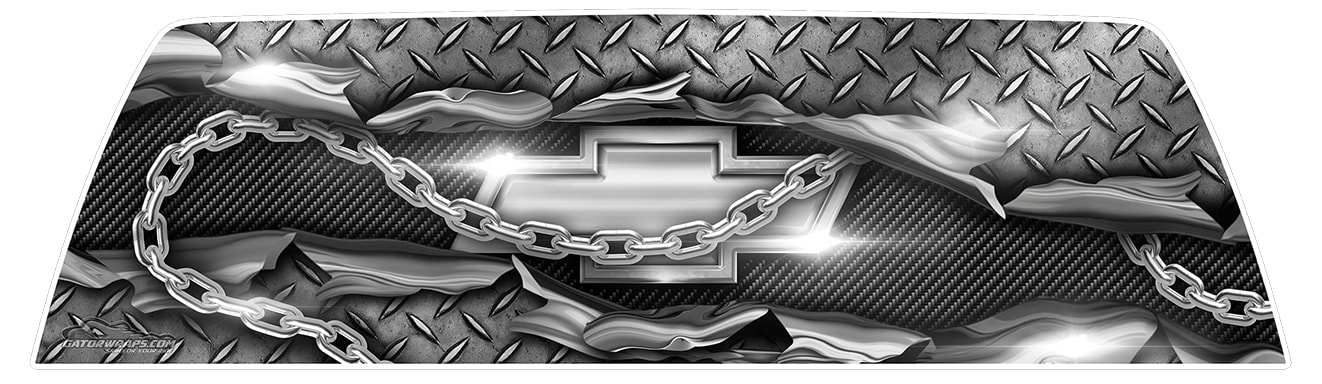 Chevy Diamond Plate – Window Graphics