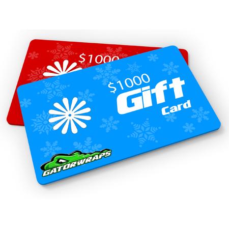 Gatorwraps $1000 Gift Card